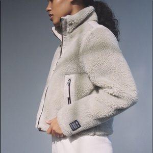 Urban Outfitters Fleece Mock Neck Jacket